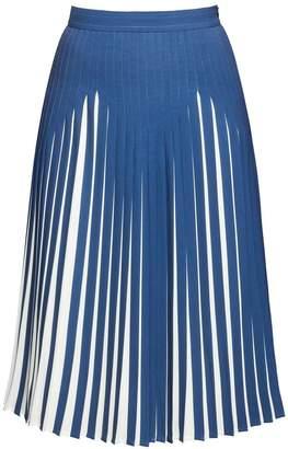 Rumour London - Penelope Azure Blue Pleated Two-Tone Midi Skirt