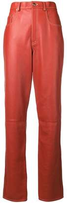 Gucci straight leather trousers