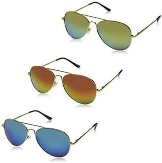 Zerouv Premium Full Mirrored Aviator Sunglasses w/Flash Mirror Lens