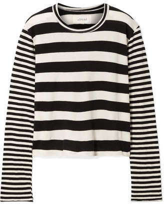 The Great Striped Cotton-jersey Top - Ivory