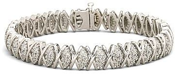 JCPenney ONLINE ONLY - 1/10 CT. T.W. Diamond Swirl Bracelet Sterling Silver