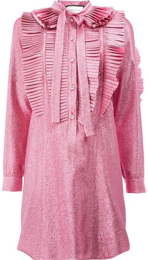 GucciGucci lurex pleated dress