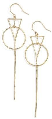 Gorjana (ゴリアナ) - gorjana Triangle Drop Earrings
