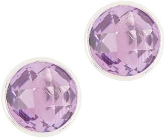 Semi-Precious Gemstone Stud Earrings, Sterling Silver