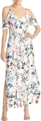 Rachel Roy Cold Shoulder Floral Maxi Sundress