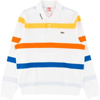 Lacoste Supreme Longsleeve Jersey Polo - 'SS 17' - White Stripe