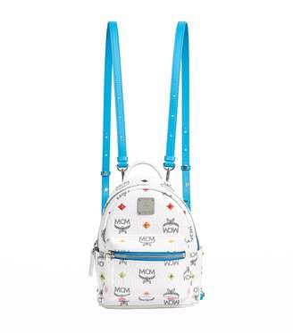MCM Stark Spektrum Stud Woven Backpack