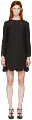 Valentino Black Scallop Rockstud Dress