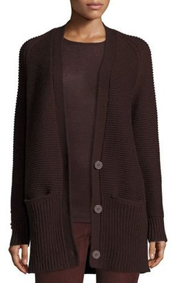 Vince Chunky Wool-Cashmere Cardigan, Raisin $495 thestylecure.com