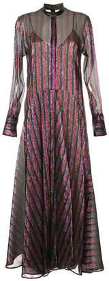 Petar Petrov striped flared maxi dress