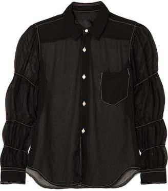 Comme des Garcons Georgette Shirt - Black