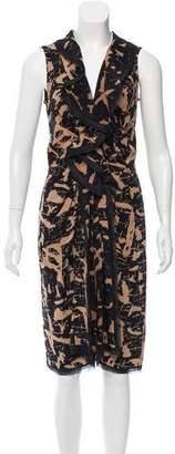Oscar de la Renta Printed Silk Dress