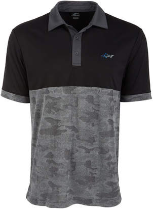 Greg Norman Attack Life by Men Colorblocked Camo Jacquard Polo