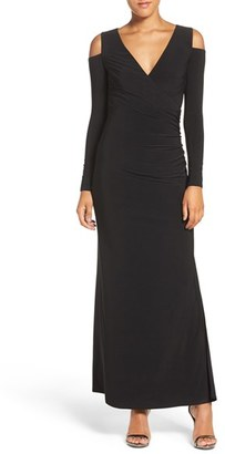 Laundry by Shelli Segal Cold Shoulder Jersey Gown $245 thestylecure.com