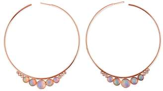 Jacquie Aiche Graduated Opal and Diamond Hoop Earrings - Rose Gold