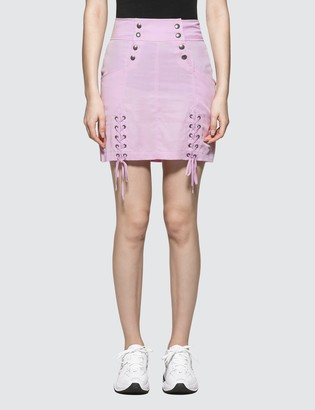505701ec416b X-girl X Girl Lace-up Mini Skirt