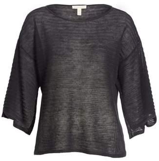 Eileen Fisher Slit Sleeve Organic Linen Sweater