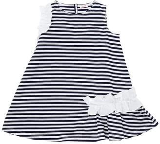 Il Gufo Striped Cotton Jersey Dress