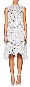 Yohji Yamamoto Regulation Women's Floral Crinkled Chiffon Shirtdress - Off White