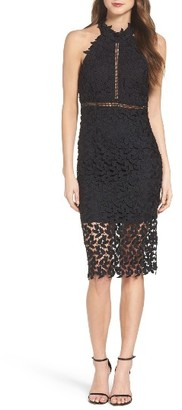 Women's Bardot 'Gemma' Halter Lace Sheath Dress $119 thestylecure.com