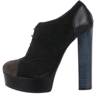 Barneys New York Barney's New York Lace-Up Platform Booties