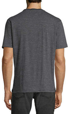 Robert Barakett Men's Granby V-Neck Striped T-Shirt