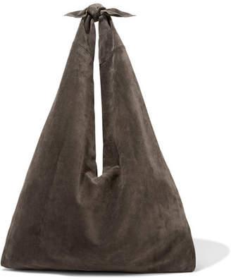 The Row Bindle Suede Shoulder Bag - Dark brown