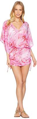 Luli Fama Bamboleo Cabana V-Neck Dress Cover-Up Women's Swimwear