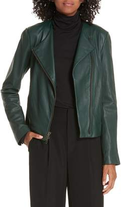 Vince Cross Front Leather Jacket