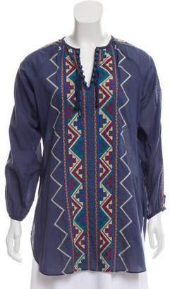 Roberta Freymann Embroidered Lightweight Tunic