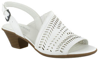 af5ebb9e4 Easy Street Shoes White Heeled Women s Sandals - ShopStyle