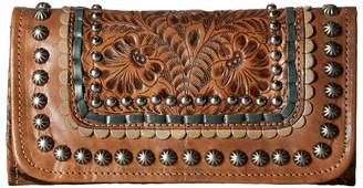 American West Blue Ridge Trifold Wallet Wallet Handbags