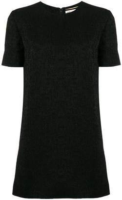Saint Laurent shiny short sleeved dress