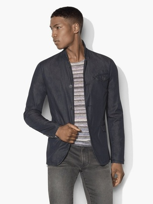 Indigo Chambray Jacket $348 thestylecure.com
