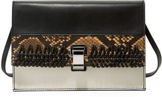 Proenza Schouler Small Embossed Leather Lunch Bag-on-a-Strap
