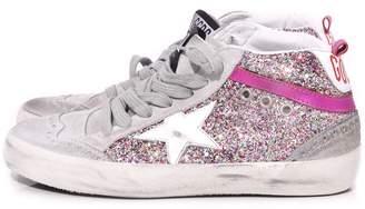 Golden Goose Mid Star Sneaker in Multicolor Glitter/White Star