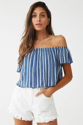 41b071eaa10 Forever 21 Blue Off Shoulder Tops For Women - ShopStyle Canada