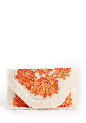 La Chic Designs Floral Fringe Envelope Clutch