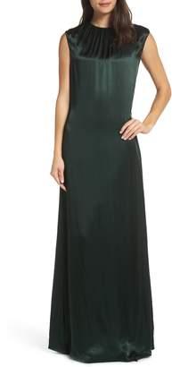 AVEC LES FILLES Open Back Maxi Dress