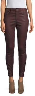 Joe's Jeans Charlie High-Rise Coated Ankle Skinny Jeans