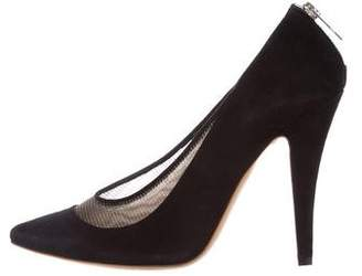 Chloé Suede Pointed-Toe Pumps
