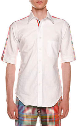 Thom Browne Bicolor Short-Sleeve Shirt