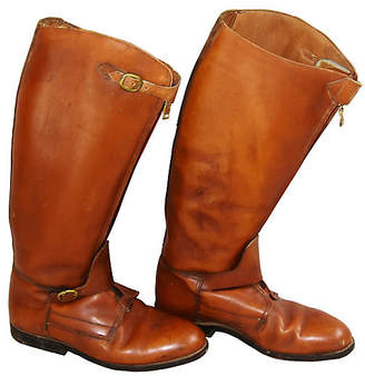 One Kings Lane Vintage Equestrian Riding Polo Leather Boots