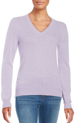 Lord & Taylor Basic V-Neck Cashmere Sweater $160 thestylecure.com