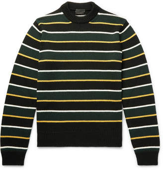 Prada Striped Virgin Wool Sweater