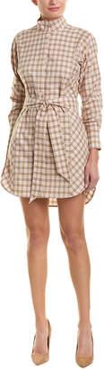 Burberry Check Tie-Waist Cotton Shirtdress