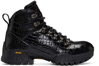 1017 Alyx 9SM Black ROA Croc Hiking Boots