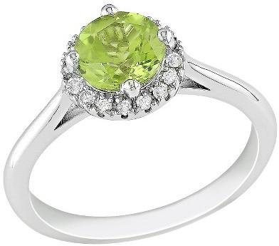 Diamond & Peridot Ring - Green