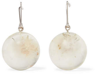 Silver-plated Glass Earrings