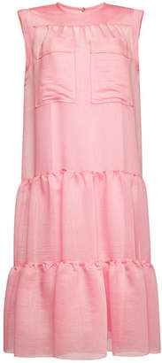 See by Chloe Sheer Dress with Ruffles